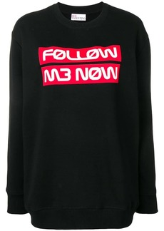 RED Valentino follow me now jumper