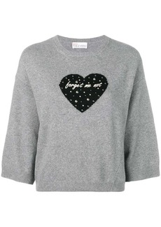 RED Valentino forget me not heart jumper