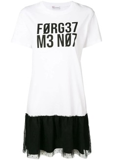 RED Valentino forget me not T-shirt dress