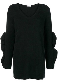 RED Valentino frayed knit sweater