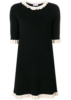 RED Valentino frilled trim knitted dress