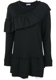 RED Valentino frill trim jersey mini dress