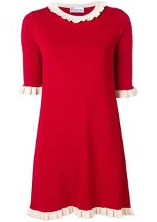 RED Valentino frilled trim knit dress