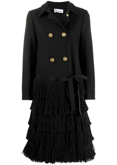 RED Valentino fringed double-breasted coat
