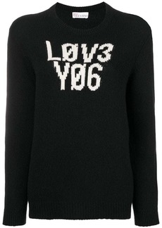 RED Valentino front script fitted sweater
