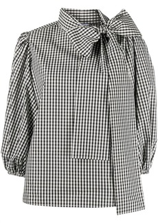 RED Valentino gingham pussy-bow blouse