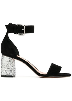 RED Valentino glitter heel sandals