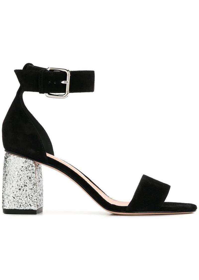 RED Valentino glitter heel sandals
