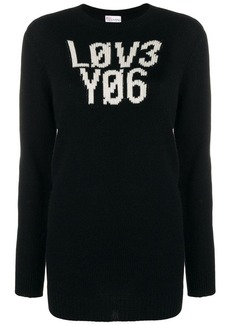 RED Valentino graphic knitted jumper