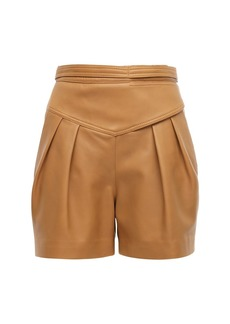 RED Valentino High Waist Leather Shorts