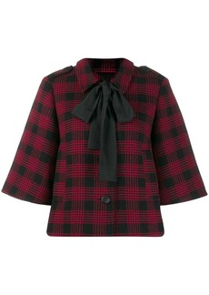 RED Valentino Houndstooth boxy jacket