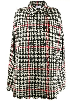 RED Valentino houndstooth cape