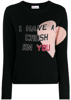 RED Valentino I have a crush on you sweater