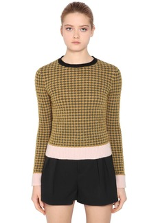 RED Valentino Intarsia Wool Blend Knit Sweater