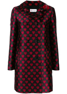 RED Valentino jacquard heart patterned coat