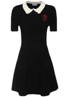 RED Valentino Knit Viscose Blend Mini Dress