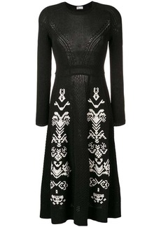 RED Valentino knitted embroidered dress