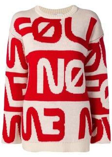 RED Valentino knitted slogan jumper