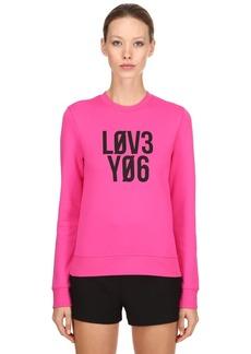 RED Valentino L0v3 Y06 Printed Jersey Sweatshirt
