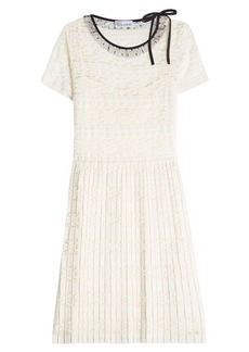 RED Valentino Lace Dress with Pleats