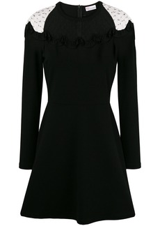 RED Valentino lace panel skater dress
