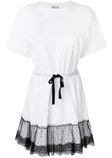 RED Valentino lace peplum hem T-shirt dress