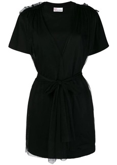 RED Valentino layered belted T-shirt dress