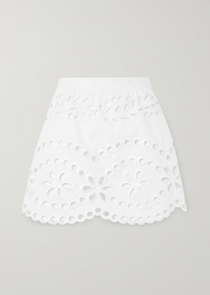 RED Valentino Layered Broderie Anglaise Cotton Shorts