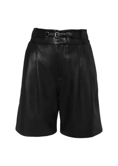 RED Valentino Leather Bermuda Shorts