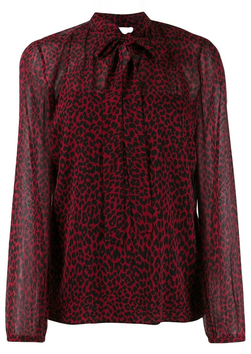 RED Valentino leopard print blouse