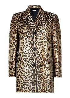 RED Valentino Leopard Print Coat
