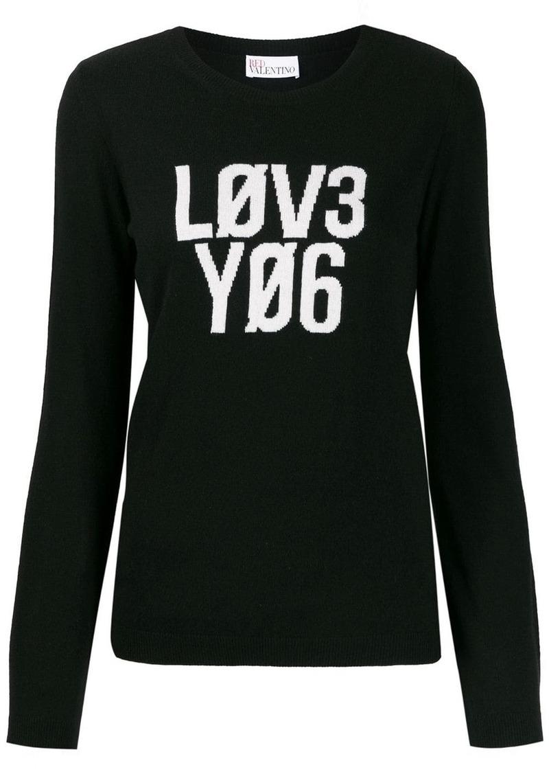 RED Valentino 'Lov3 Yo6' jumper