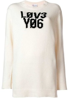 RED Valentino 'Lov3 Yo6' knit sweater