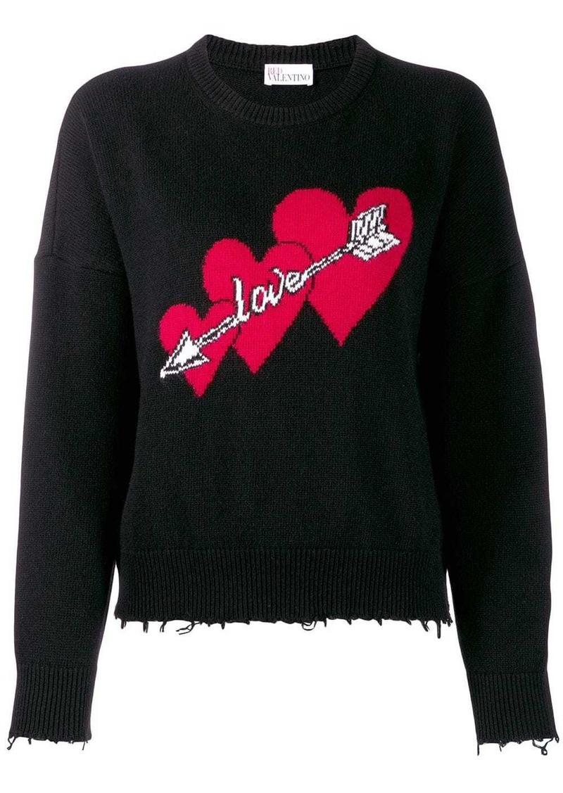 RED Valentino Love print jumper