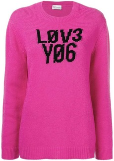 RED Valentino love you intarsia jumper
