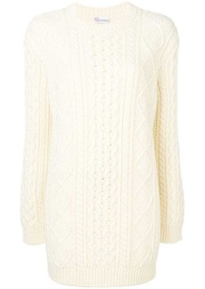 RED Valentino love you intarsia sweater dress