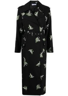 RED Valentino May Lily jacquard trench coat