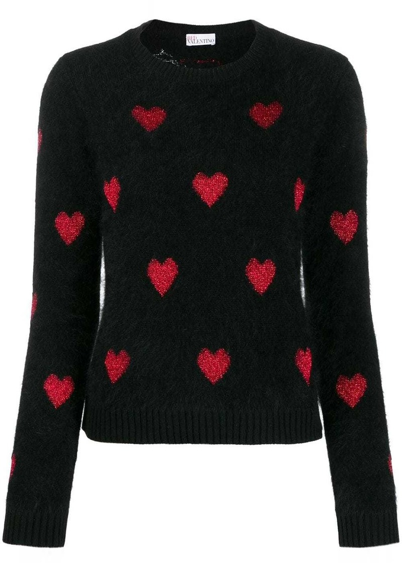 RED Valentino metallic hearts jumper