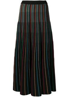 RED Valentino multi striped maxi skirt