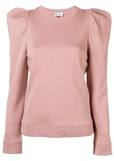 RED Valentino neck-tied fitted sweater