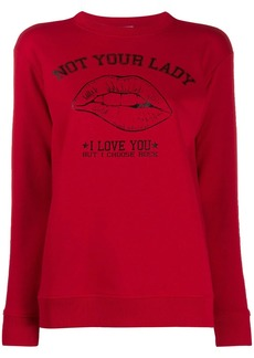 RED Valentino Not Your Lady print sweatshirt
