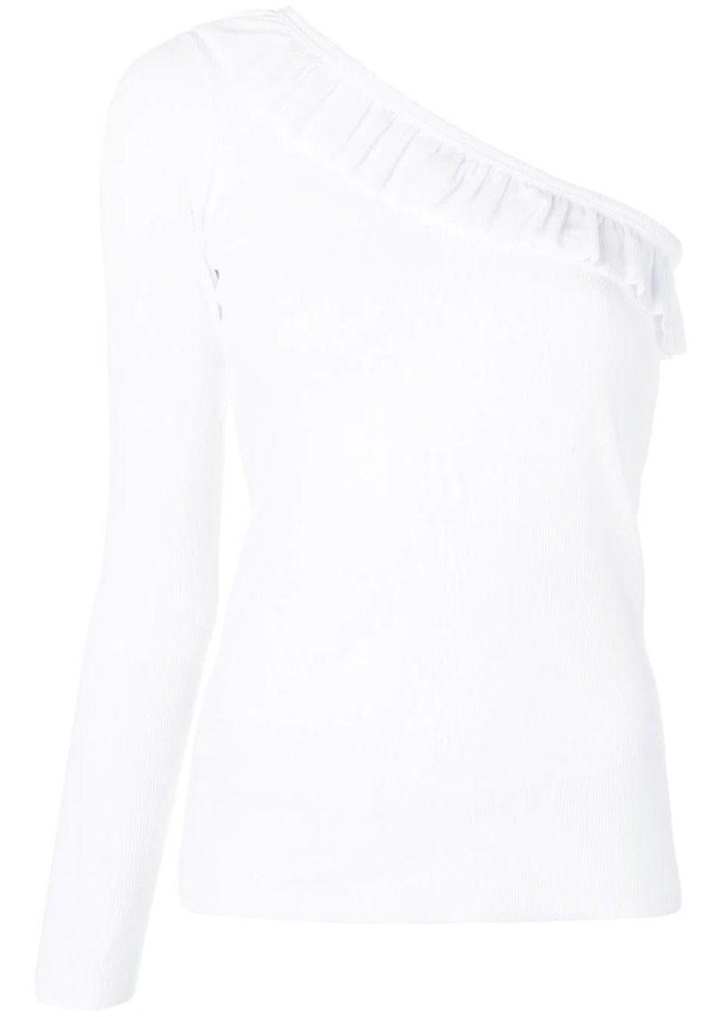 RED Valentino one-shoulder ribbed top