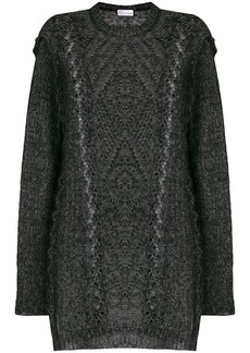 RED Valentino open cable knit sweater
