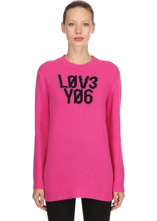 RED Valentino Oversized Intarsia Wool Knit Sweater