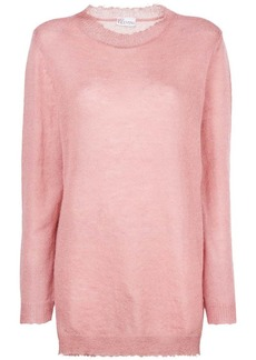 RED Valentino oversized long-sleeve sweater