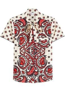 RED Valentino Paisley Print Silk Blouse