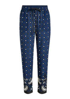 RED Valentino Paisley Print Silk Pants