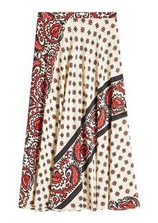 RED Valentino Paisley Print Silk Skirt