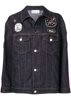 RED Valentino patch detailed denim jacket
