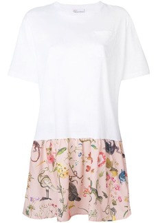 RED Valentino patterned hem T-shirt dress